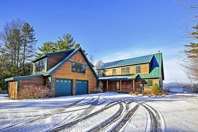 Located right on Lake Champlain, this beautiful vacation rental house promises a rejuvenating retreat!