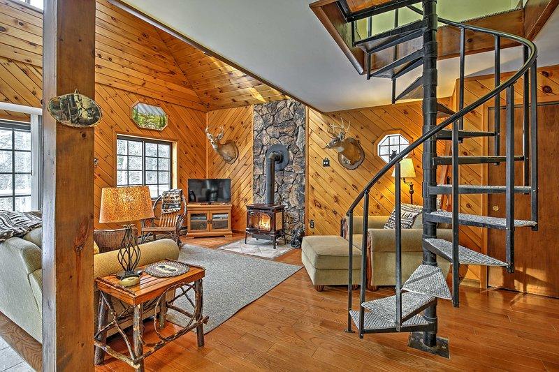 A quente, interior acolhedor vai fazer você se sentir em casa.