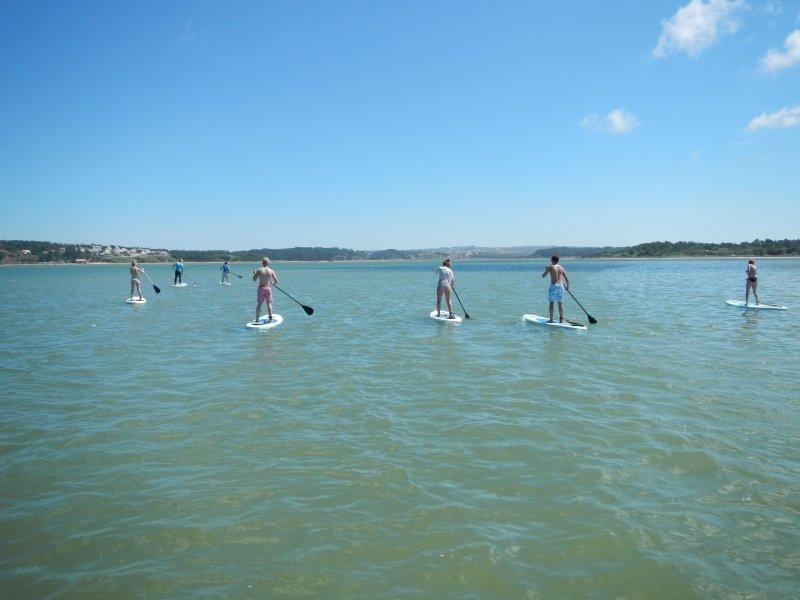paddle sur la lagune