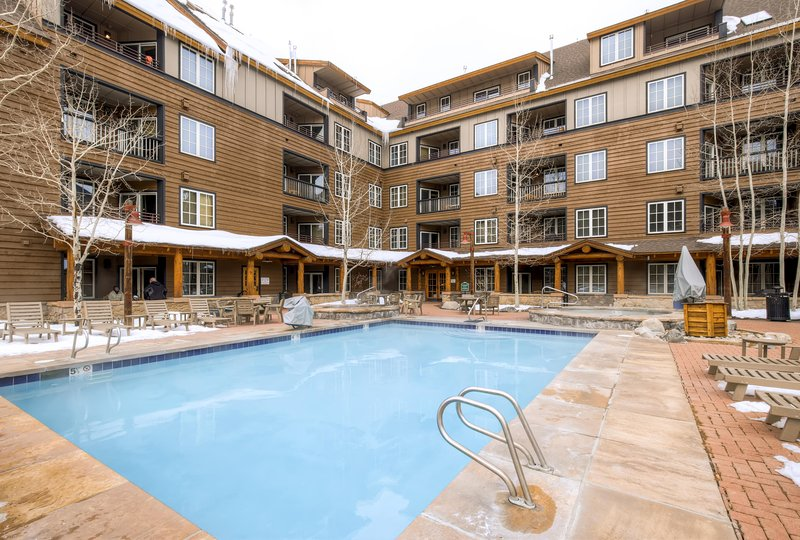 Enjoy access to year-round heated pool at this lovely Keystone vacation rental condo