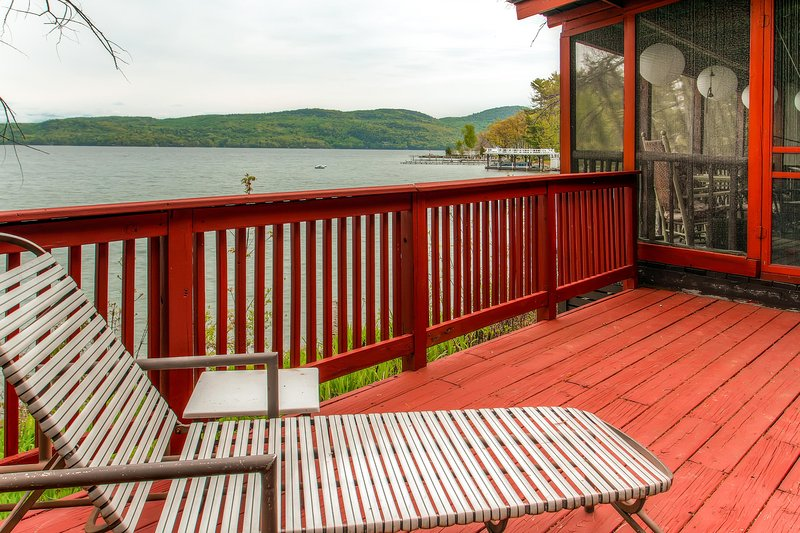 Look forward to spending your downtime on the beautiful screened porch, overlooking the water.