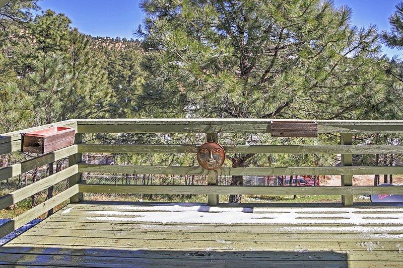 Enjoy views on the spacious deck.