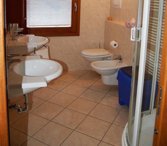 Modern bathroom with 2 sinks