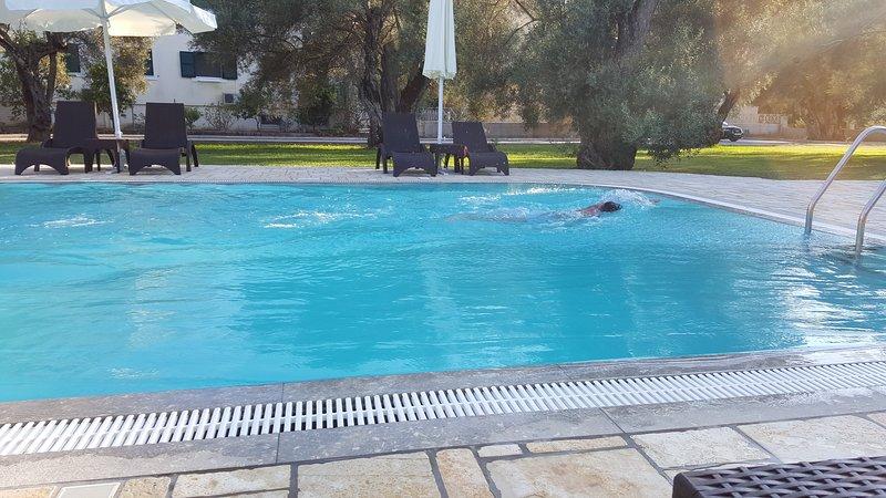 Take a swim in the pool