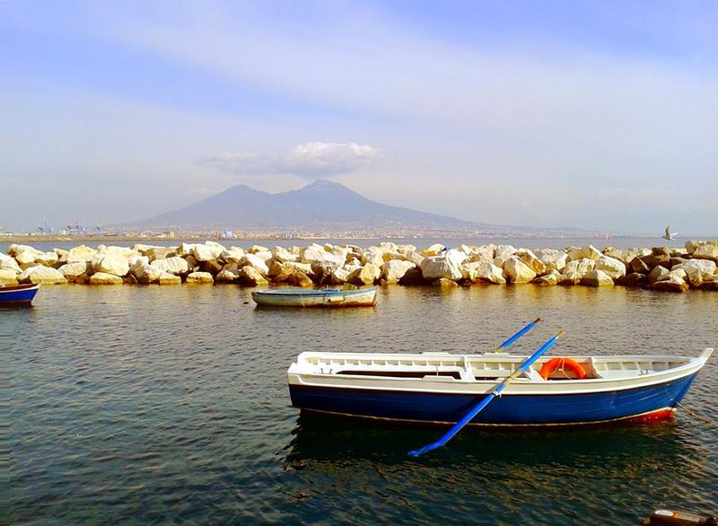 Vesuvius view from the sea