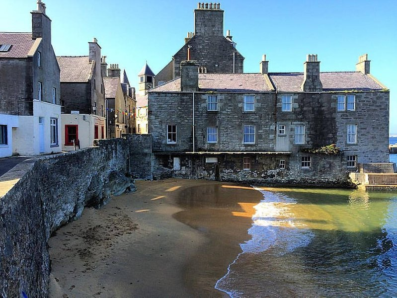 Sea Winds, Townhouse in the Lodberries, Lerwick, aluguéis de temporada em Sandwick