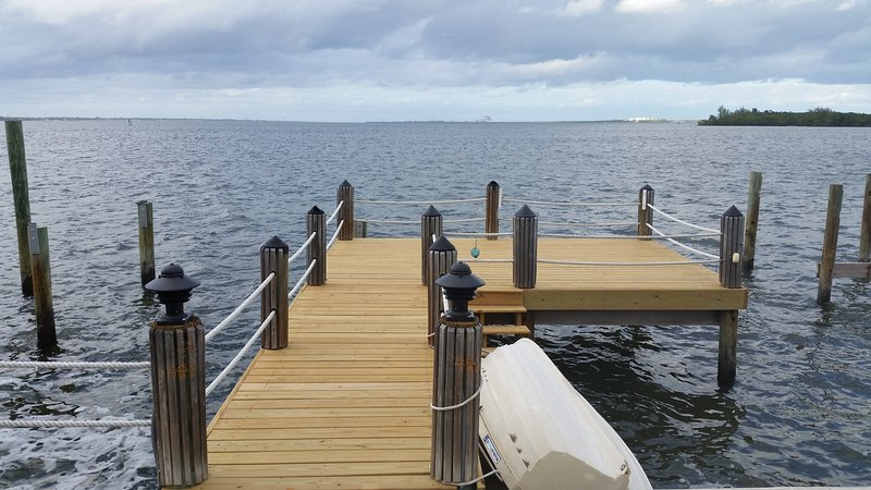 Nice Dock in our back yard.