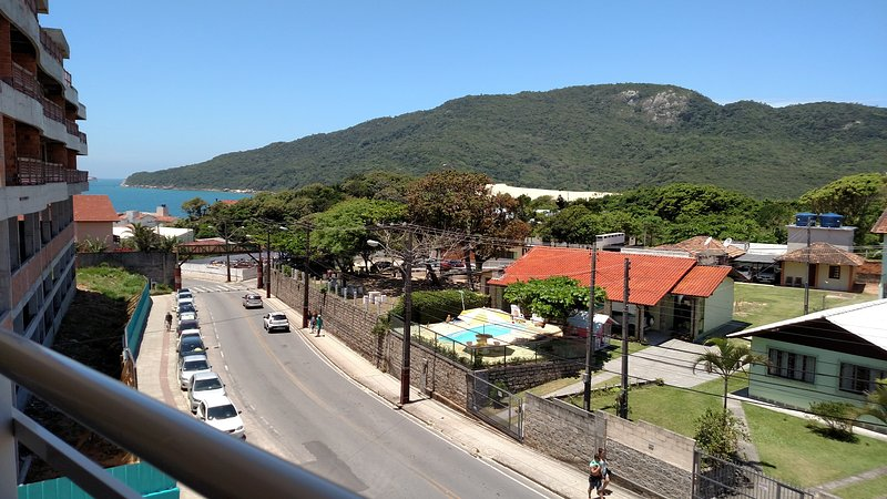 View from the balcony to the sea of Praia dos Ingleses.