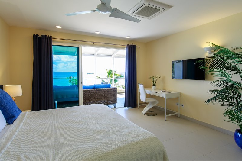 Master bedroom also offers 43' smart TV, working desk and high quality linens