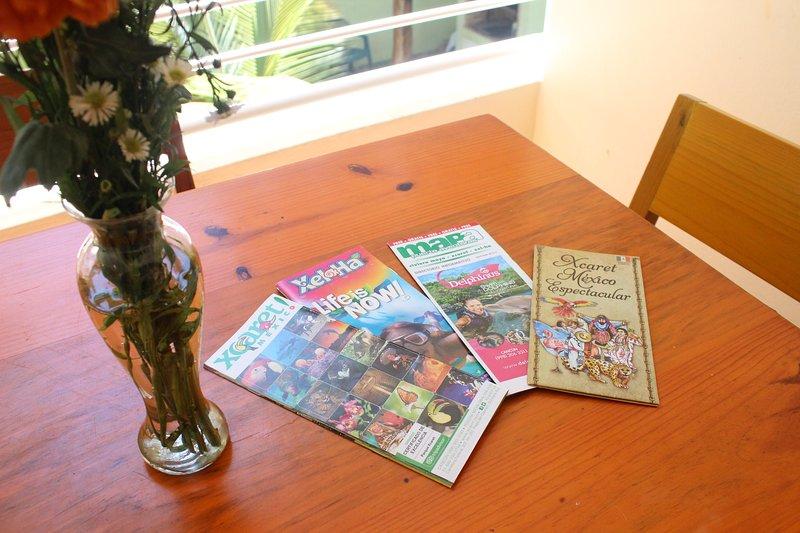 I always leavew maps and touristic brochures around. Viva Maria