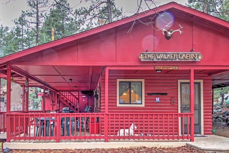 Reserve o seu refúgio Prescott nesta cabine de aluguel de 2 quartos e 2 banheiros!