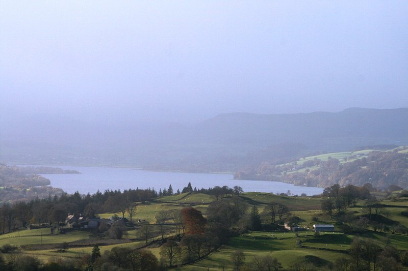 One of the best views of Bala Lake taken from the lop of the lane looking down the whole length.