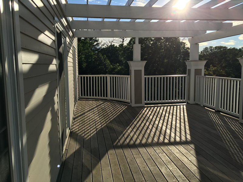 Bedroom Level decks, with a Pergola