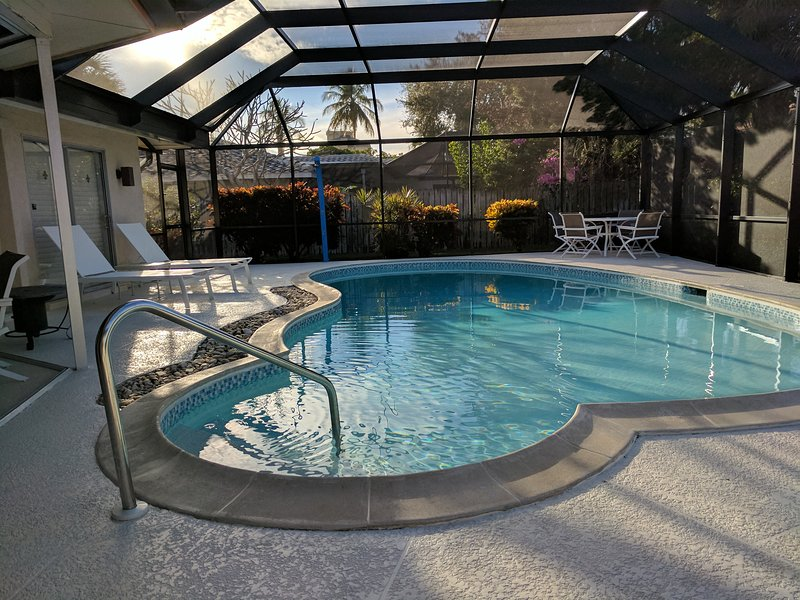 Large Lanai with Heated Pool