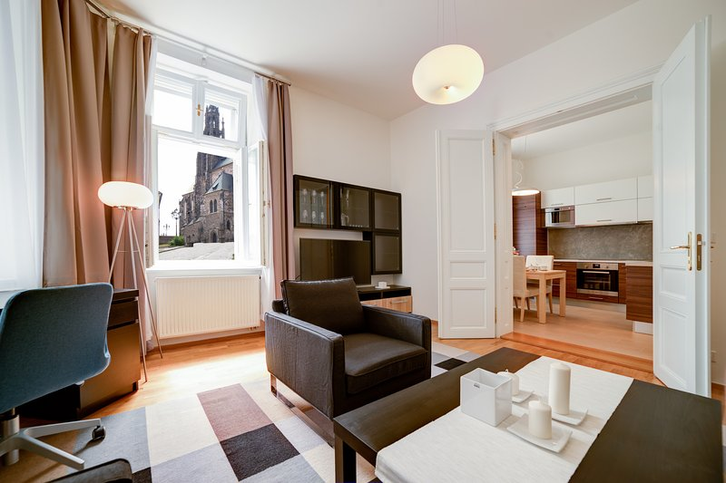 Bishop Petrov Apartment with a beautiful cathedral view, location de vacances à Moravie du Sud