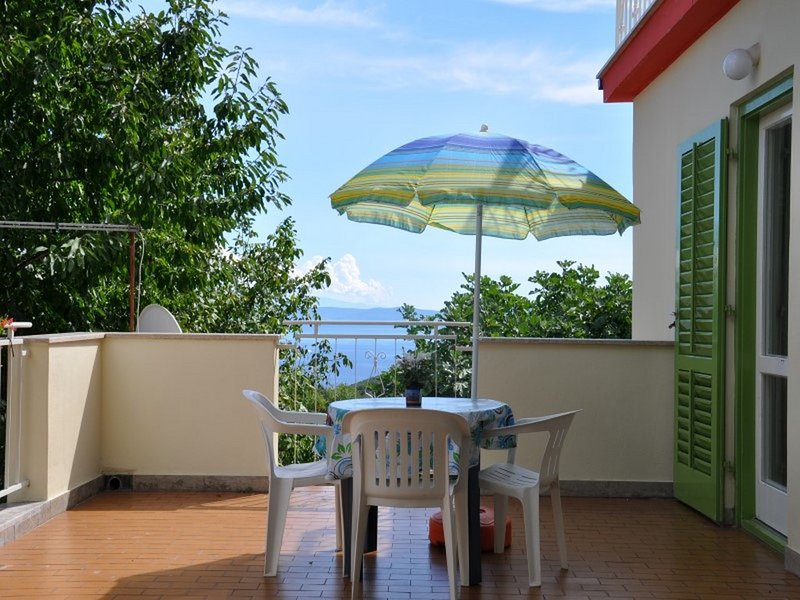 Cute app w/ balcony with sea view 477, holiday rental in Labin
