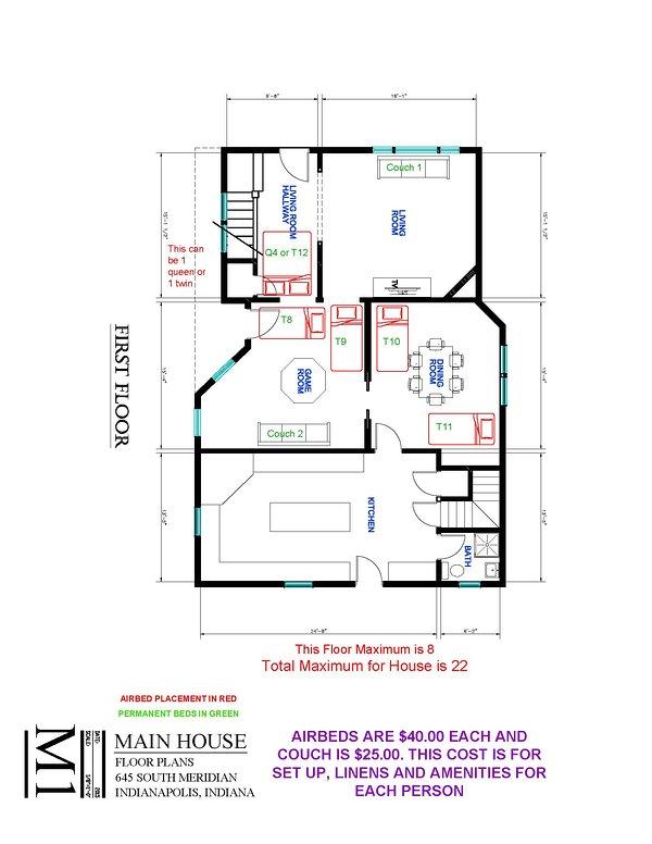 Main House First Floor Extra Bed Setup Floor Plan