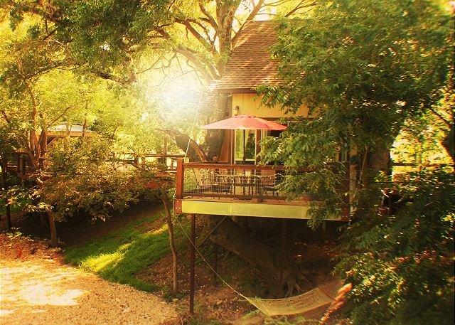 Amazing Custom Treehouse! Conveniently Located near Whitewater Amphitheater!, location de vacances à New Braunfels