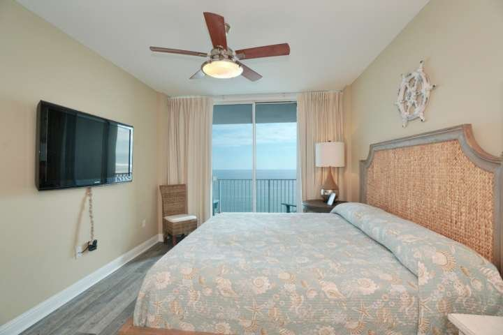 Master bedroom with private access to Gulf-front balcony