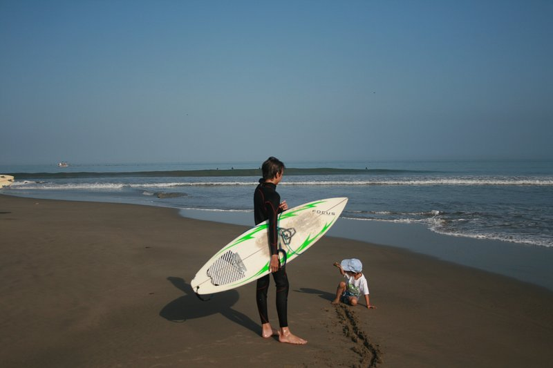 Mancora beach and surf point