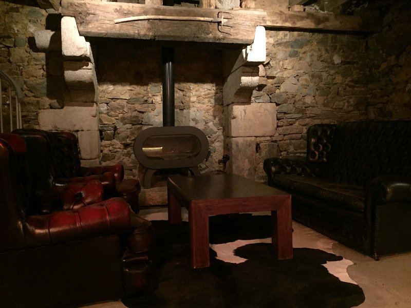 cosy seating by the fire