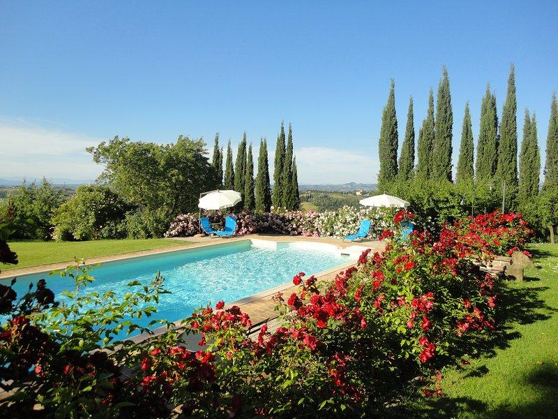 San Gimignano Countryside - Apt. Panorama, casa vacanza a Pancole