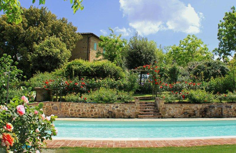 Podere San Luigi charming traditional - Apt. Garden, casa vacanza a Pancole