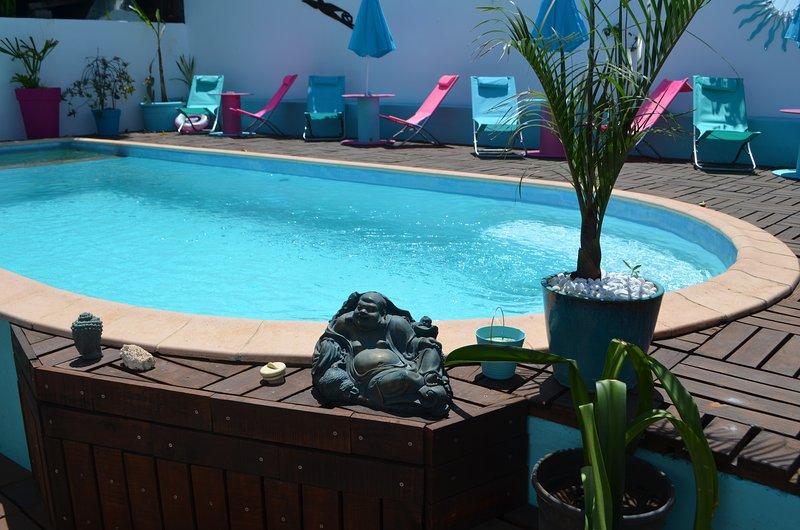 Chambre chez l'habitant+piscine proche Saint Pierre 'Tec Tec', casa vacanza a Ravine des Cabris