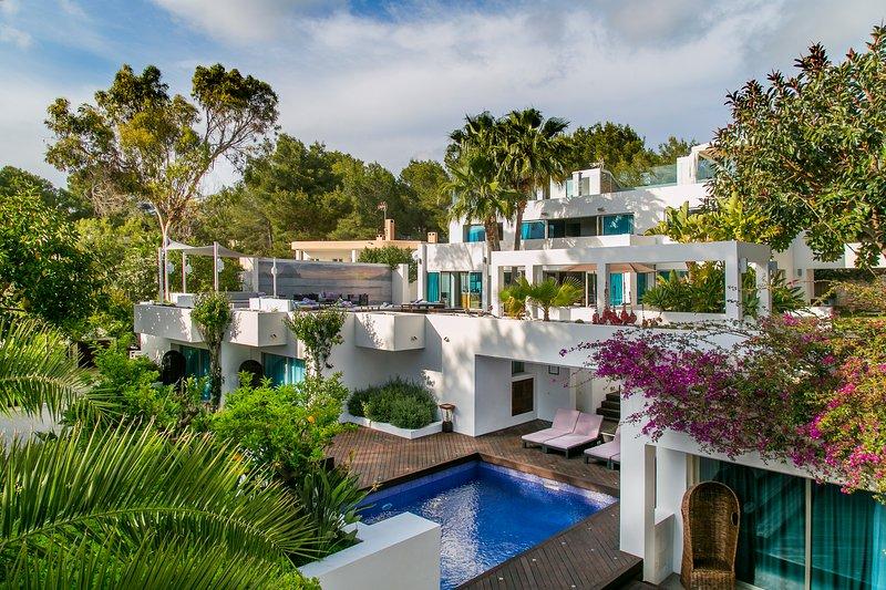 Casa India Ibiza: 6 camera matrimoniale villa di lusso a pelo 12 in Roca Llisa, Ibiza