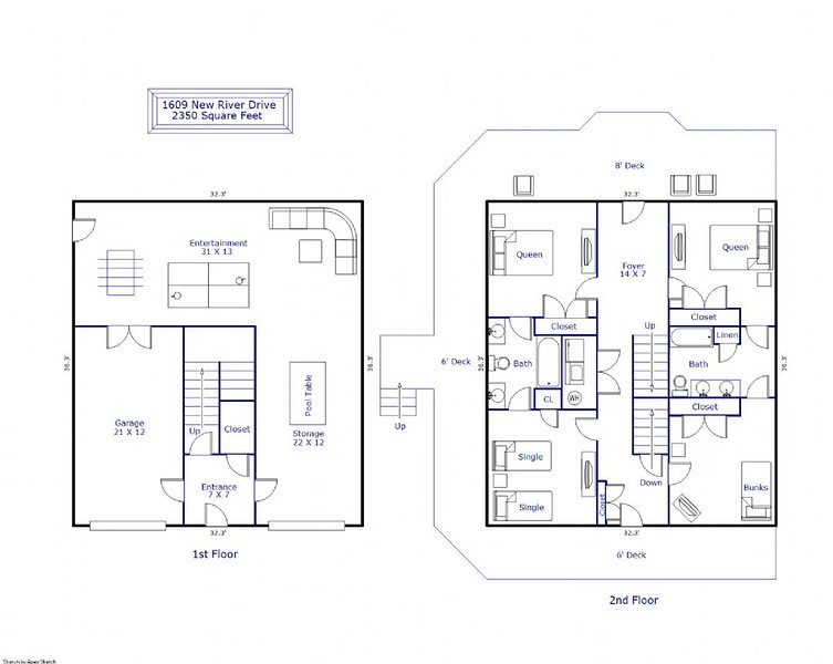 1st & 2nd Floor layout