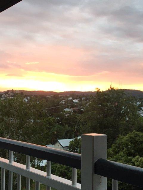 Solnedgången från akterdäck
