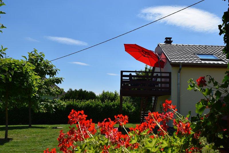 Terrasse, vue côté jardin