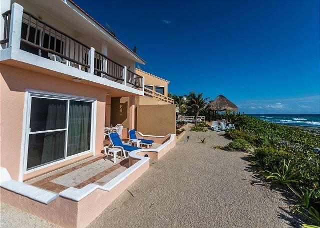 Ocean side Casa del Mar and our sister villa Nicte Ha