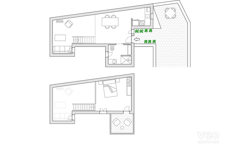 65m² | quarto piano | senza ascensore