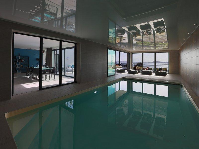 Villa de luxe pleine vue mer, casa vacanza a Pleumeur Bodou