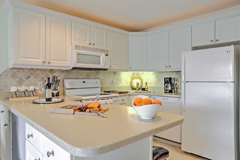 Fully Equipped Kitchen awaits- stocked with everything you need to prepare a great meal!