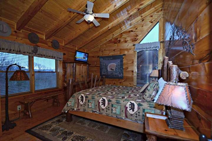 Enjoy your downtime in the evenings in the upstairs bedroom with private bathroom.