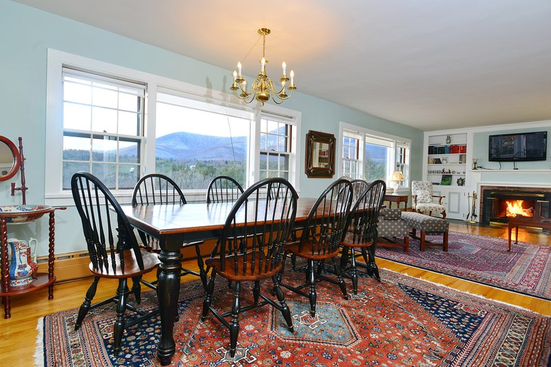 beautiful and spacious dining room with mountain view of Equinox Mt.