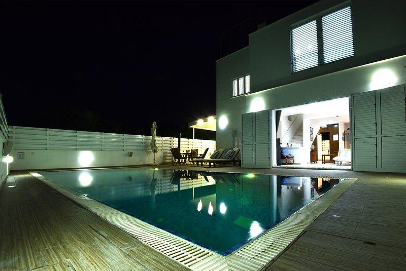 Evening Pool Lights