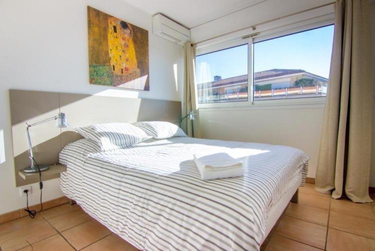 A very bright bedroom