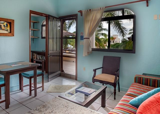 Spacious one bedroom, private balcony and ocean breezes.