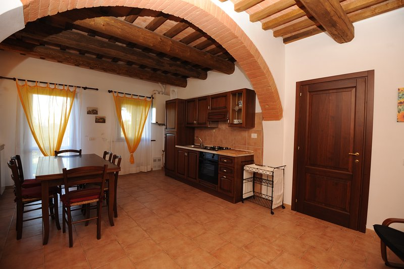 living room and kitchenette