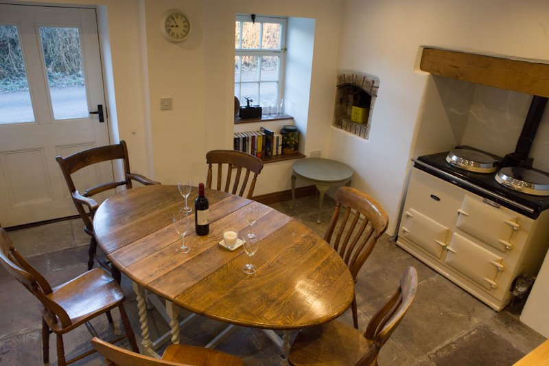 view of dining area and Aga