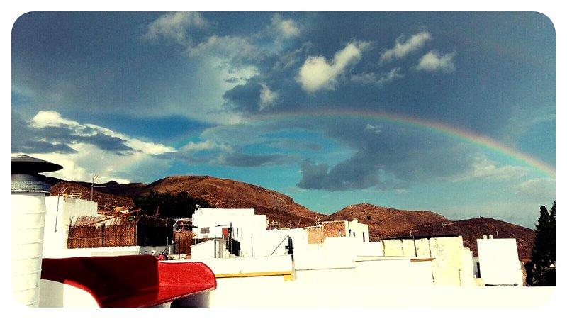 Solarium and rainbow