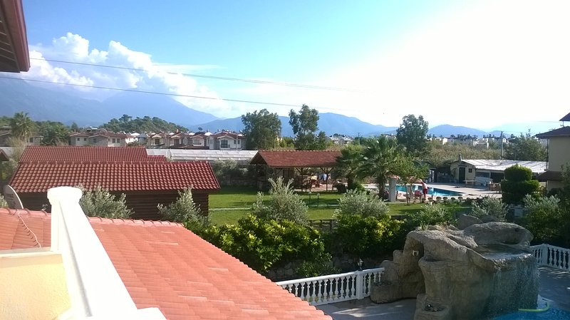 Spectacular view of the distant mountains from the balcony of Bedroom 5.