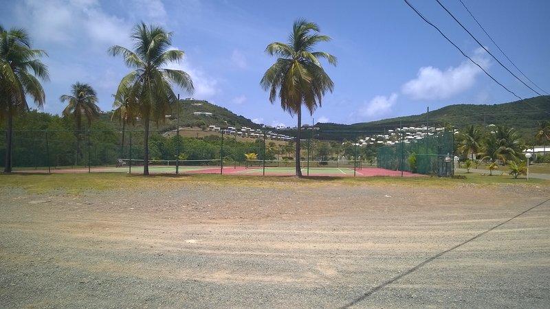 Las canchas de tenis