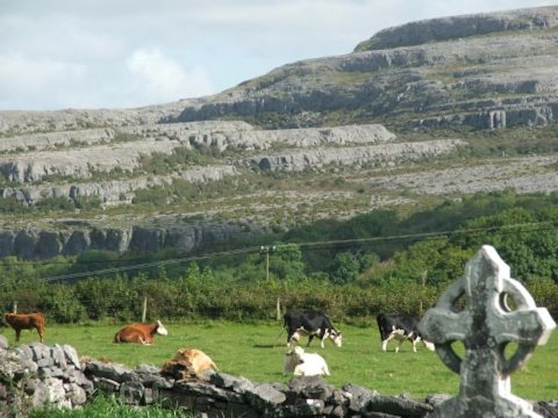 The world-famous Burren Limestone hills and ancient monuments