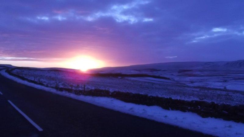 Salida del sol sobre Alston Moor