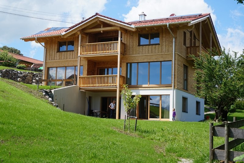 On the ground floor is the Garden Chalet: with private terrace and garden