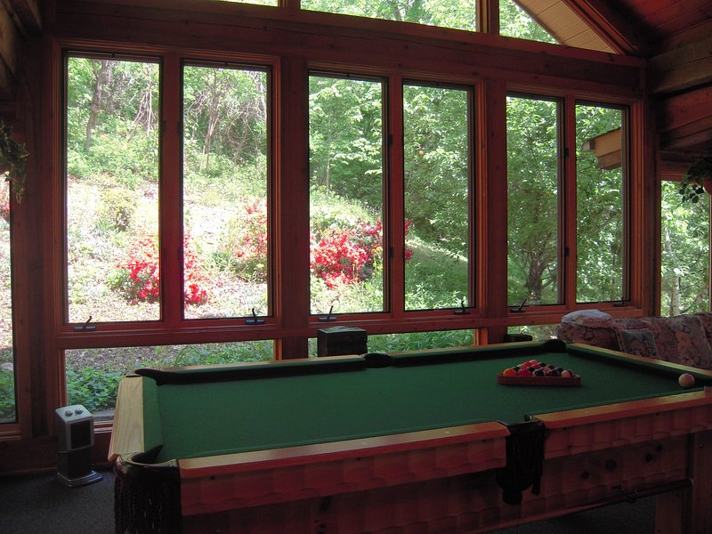Pool Table in the Game Room